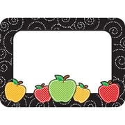 """Teacher Created Resources Dotty Apples Name Tags/Labels, 36 per pack, bundle of 3 packs, 3 1/2"""" x 2 1/2"""" (TCR2143)"""