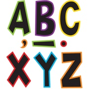 """Teacher Created Resources 7"""" Fun Font Letters, Electric Bright (TCR77282)"""