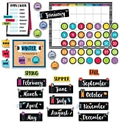 Creative Teaching Press Bold & Bright Calendar Set Bulletin Board, 67/Set (CTP3998)
