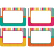 "Teacher Created Resources Tropical Punch Name Tags/Labels - Multi-Pk, 36 per pack, bundle of 3 packs, 3 1/2"" x 2 1/2"" (TCR2684)"