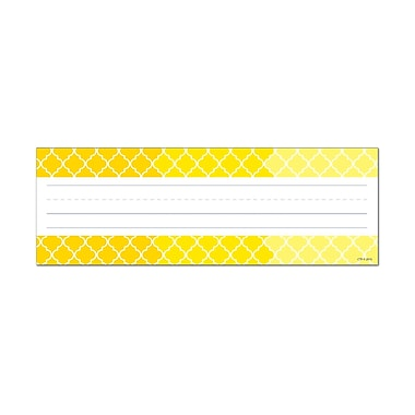 Creative Teaching Press Ombre Yellow Moroccan Name Plates (Paint), 36 per pack, bundle of 6 packs, 9 1/2