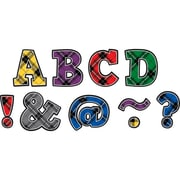"""Teacher Created Resources 2"""" Magnetic Letters, Plaid Bold Block (TCR77297)"""