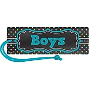 Teacher Created Resources Chalkboard Brights Magnetic Boys Pass, bundle of 6 (TCR77278)