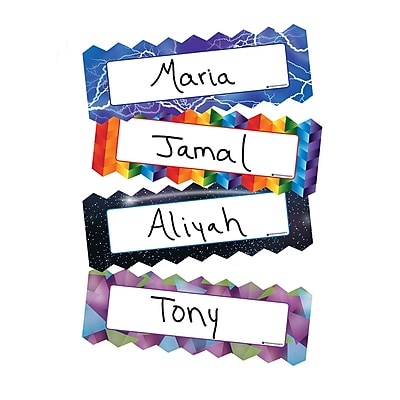 Dowling Magnets ZigZag & Lighting Magnetic Name Plates, Pack of 16, 6