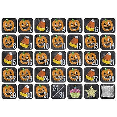 Creative Teaching Press Chalk It Up! October Seasonal Calendar Days, 36/Pack (CTP8509)