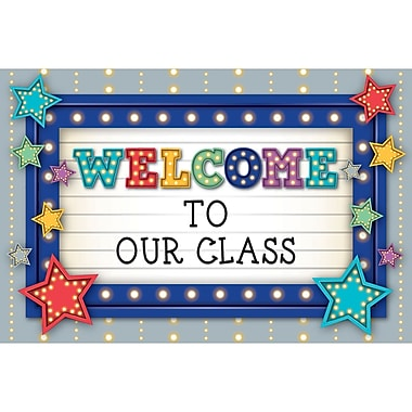 Teacher Created Resources Marquee Welcome Postcards, 30/pk, bundle of 3 packs (TCR5486)