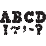 """Teacher Created Resources 3"""" Magnetic Letters, Black Stitch Bold Block (TCR77309)"""