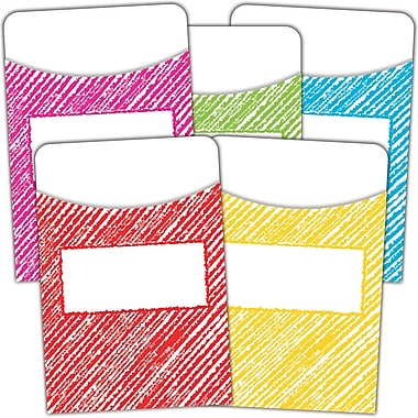 Teacher Created Resources Scribble Library Pockets - Mutil-Pack of 35, bundle of 3 packs (TCR3053)