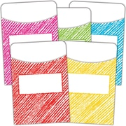 Teacher Created Resources Scribble Library Pockets, 105/Set (TCR3053)