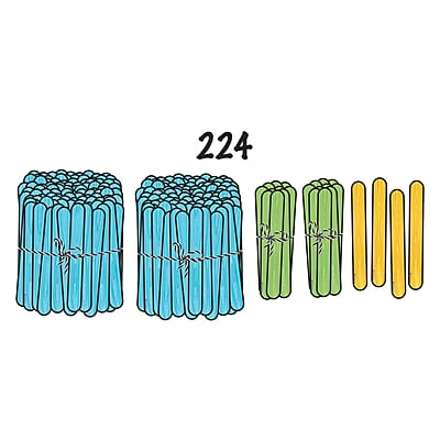 Dowling Magnets Magnet Math™ Magnetic Demonstration Place Value Sticks, 45 per pack (DO-732158)