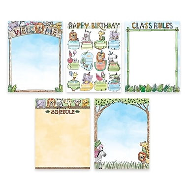 Creative Teaching Press Safari Friends Classroom Essentials 5-Chart Pack (CTP2251)