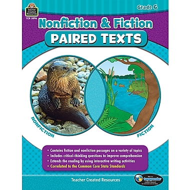 Nonfiction and Fiction Paired Texts Grade 6 Paperback (TCR3896)