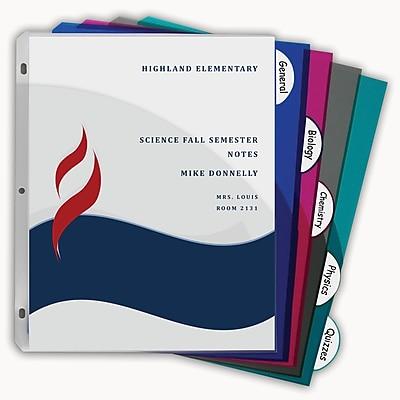 C-Line® 5-Tab Poly Index Dividers w/Slant Pocket, Asstd Colors, bundle of 12 (CLI05750)