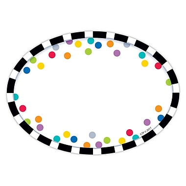 Creative Teaching Press Bold & Bright Stripes & Dots Labels, 36 per pack, bundle of 6 packs, 3 1/2