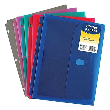 C-Line® Expanding File, 7-pocket, 6-tab, Letter Size, Assorted Colors, bundle of 4 (CLI58300)