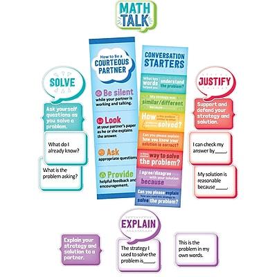 Creative Teaching Press Math Talk Mini Bulletin Board, 34/Set (CTP1756)