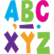 "Teacher Created Resources 7"" Fun Font Letters, Multi Bright Stitch (TCR77281)"