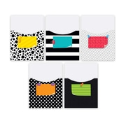Creative Teaching Press Bold and Bright Library Pockets-Extra-Large, 20/Set (CTP7076)