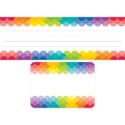 "Creative Teaching Press Rainbow Name Plate/Label Combo Set, 72ct, 9 1/2"" x 3 1/4"" (CTP8939)"
