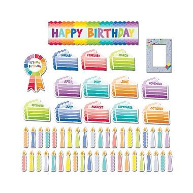 Creative Teaching Press Happy Birthday Mini-Bulletin Board (Paint), 57/Set (CTP6950)