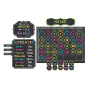 Teacher Created Resources Chalkboard Brights Calendar Bulletin Board Set, 84/Set (TCR5615)