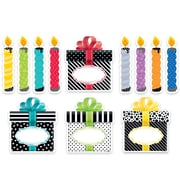 "Creative Teaching Press 6"" Designer Cut-Outs, Bold & Bright Birthday Party (CTP0636)"