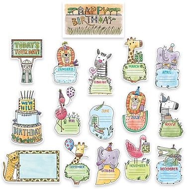 Creative Teaching Press Safari Friends Happy Birthday Mini Bulletin Board, 16/Set (CTP2179)