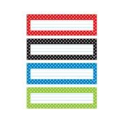 "Trend Polka Dots Desk Toppers® Name Plates Var. Pk., 32 per pack, bundle of 6 packs, 9 1/2"" x 2 7/8"" (T-69951)"