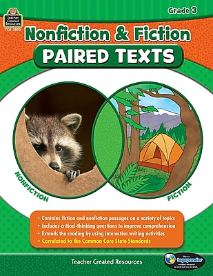 Nonfiction and Fiction Paired Texts Grade 3, Paperback (TCR3893)