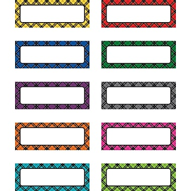 Teacher Created Resources Plaid Magnetic Labels, 30 per pack, bundle of 2 packs, 2 1/2