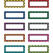 "Teacher Created Resources Plaid Magnetic Labels, 30 per pack, bundle of 2 packs, 2 1/2"" x 1"" (TCR20622)"