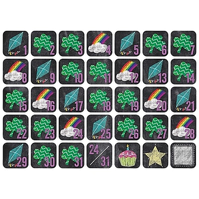 Creative Teaching Press Chalk It Up! March Seasonal Calendar Days, 36/Pack (CTP8502)