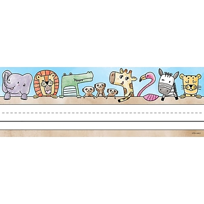 Creative Teaching Press Safari Friends Name Plates, 36 per pack, bundle of 6 packs, 9 1/2