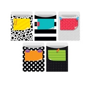 Creative Teaching Press Bold & Bright Library Pockets-Standard, 35 pockets per pack, bundle of 3 packs (CTP7245)