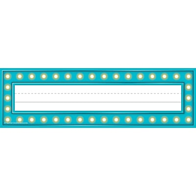 Teacher Created Resources Marquee Name Plates, 36 per pack, bundle of 3 packs, 11 1/2