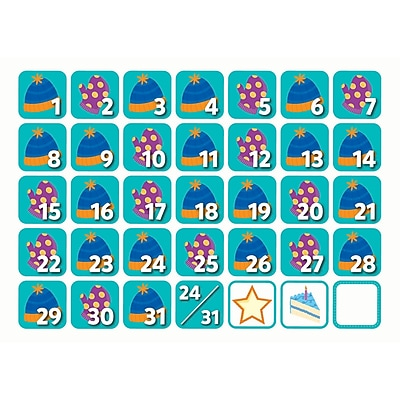 Creative Teaching Press December Seasonal Calendar Days, 36/Pack (CTP6148)