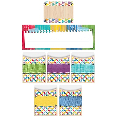 Creative Teaching Press Upcycle Style Name Plate/Label/Pockets Combo Set, 107ct, 9 1/2