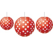 Teacher Created Resources Red Polka Dots Paper Lanterns, 3/Set (TCR77227)