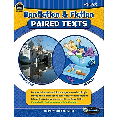 Nonfiction and Fiction Paired Texts Grade 5 Paperback (TCR3895)