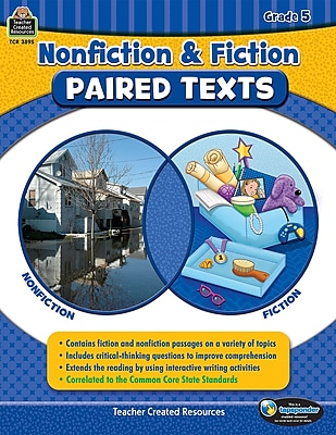 Nonfiction and Fiction Paired Texts Grade 5, Paperback (TCR3895)