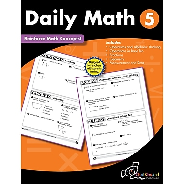 Daily Math Workbook, Grade 5 (CTP8191)