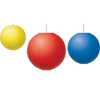 Teacher Created Resources Red, Yellow & Blue Paper Lanterns, 3/Set (TCR77230)