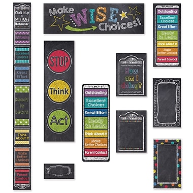 Creative Teaching Press Chalk It Up! Behavior Clip Chart & Desktop Clip Chart (CTP8936)