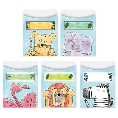 Creative Teaching Press Safari Friends Library Pockets-Standard, 35 pockets per pack, bundle of 3 packs (CTP7244)