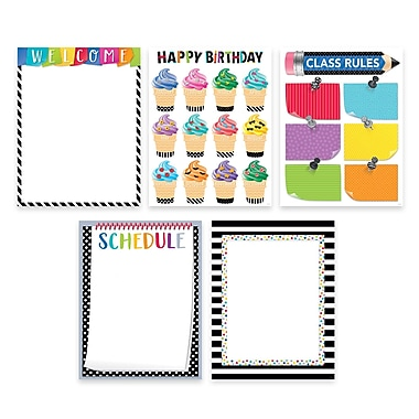 Creative Teaching Press Bold & Bright Classroom Essentials 5-Chart Pack (CTP2255)