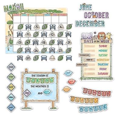 Creative Teaching Press Safari Friends Calendar Set Bulletin Board, 67/Set (CTP3999)