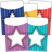 Teacher Created Resources Marquee Library Pockets - Mutil-Pack of 35, bundle of 3 packs (TCR5481)