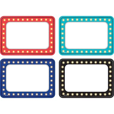 Teacher Created Resources Marquee Name Tags/Labels - Multi-Pack, 36 per pack, bundle of 3 packs, 3 1/2