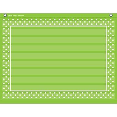 Teacher Created Resources 10 Pocket Pocket Chart, Lime Polka Dots (TCR20777)