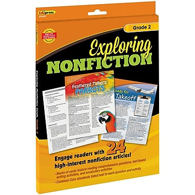 Teacher Created Resources Exploring Nonfiction Cards, Grade 2, 25/pack (EP-3681)